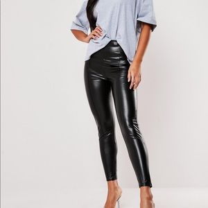 Missguided leather leggings